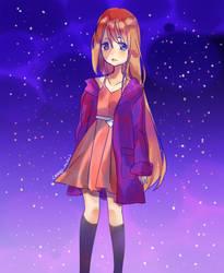 galaxy girl by Anakoneko