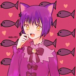 Suzu from anime Kyoukai no Rinne by Anakoneko