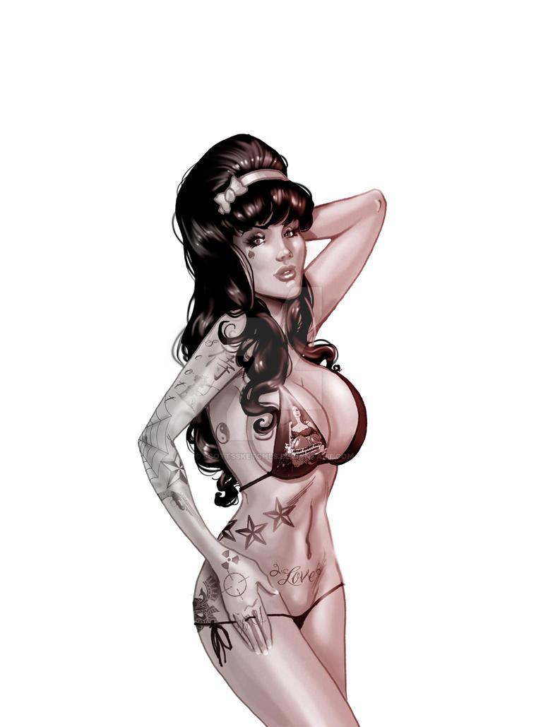 Naked tattoo pin up girls, xxl face cum extreme