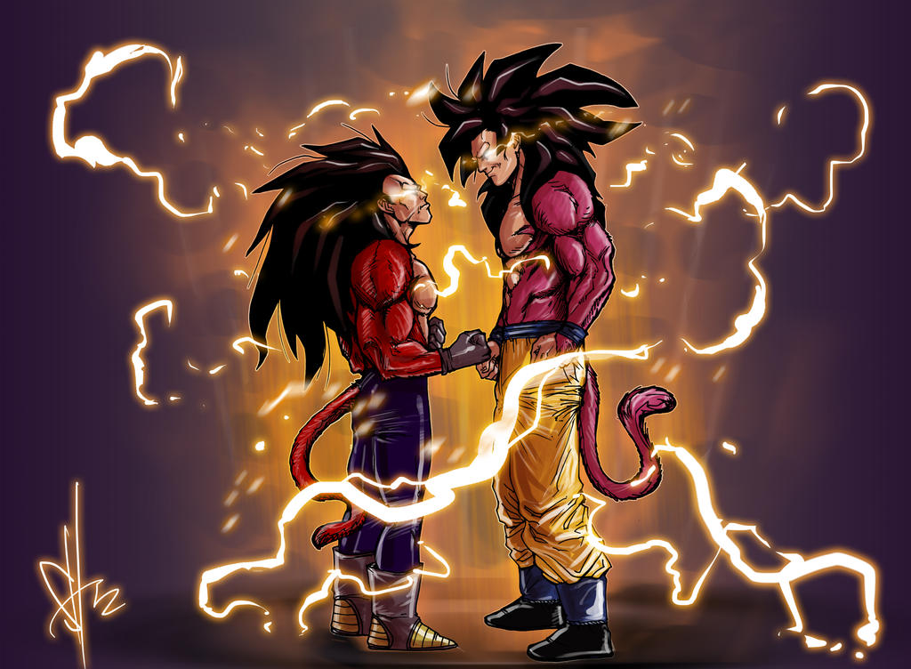 Goku vs vegeta 3 by scottssketches on deviantart - Goku vs vegeta super saiyan 5 ...