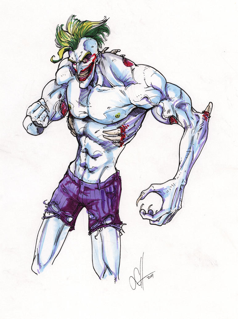 Titan Joker Sketch in markers by scottssketches