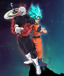 Jiren vs Goku by scottssketches
