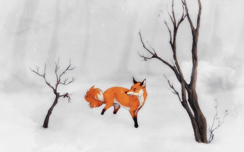 winterfox by SmolderBone