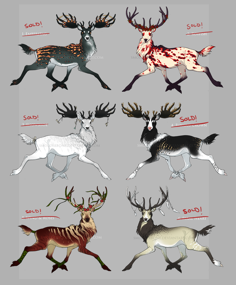 Noble stags - adoptables {CLOSED} by SmolderBone