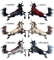 Mythical Kirin - Adoptables! {CLOSED} by SmolderBone
