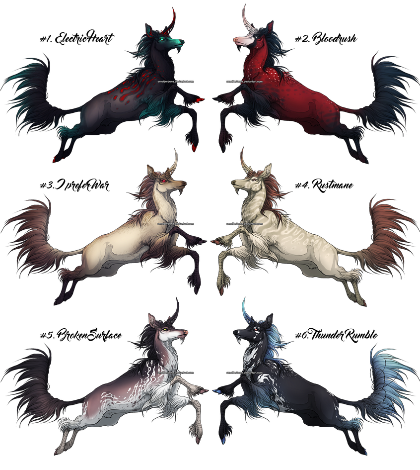 Mythical Kirin - Adoptables! {CLOSED} by SmolderBone
