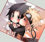 NaruSasu chibi love