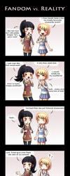Fandom vs. Reality by Tenshi-no-Hikari