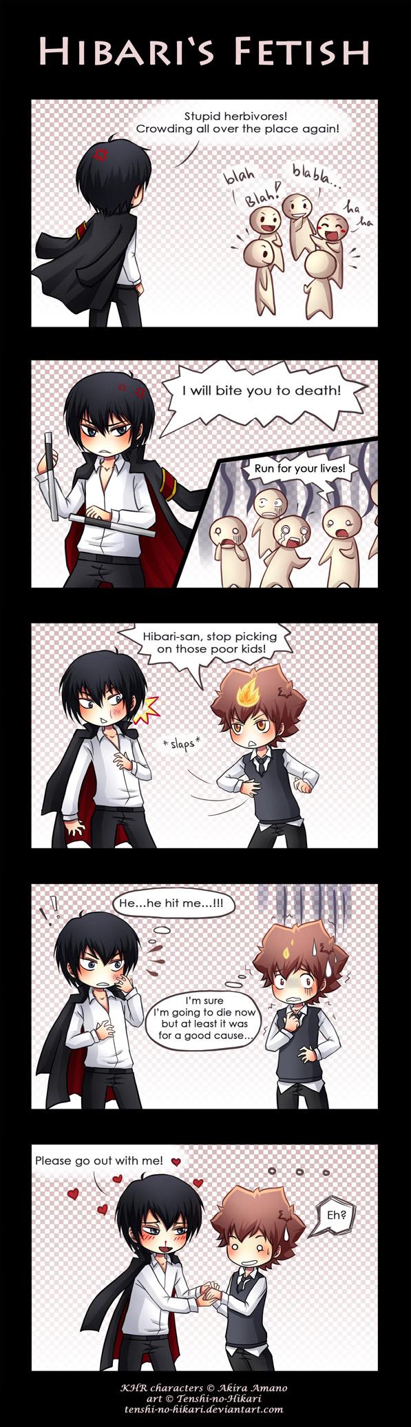 KHR - Hibari's fetish by Tenshi-no-Hikari