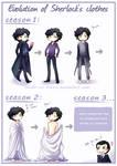 BBC SH - Evolution of Sherlock's clothes