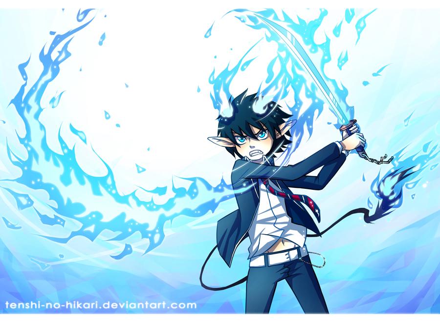 Blue Flames by Tenshi-no-Hikari