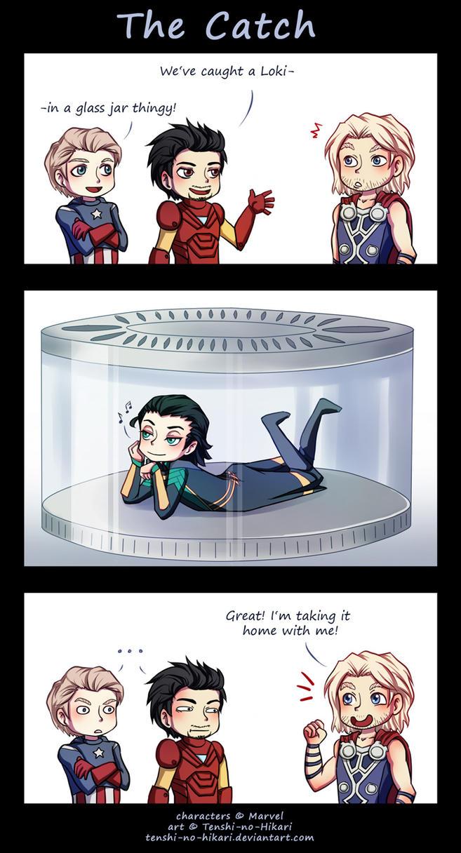 Avengers - The catch by Tenshi-no-Hikari