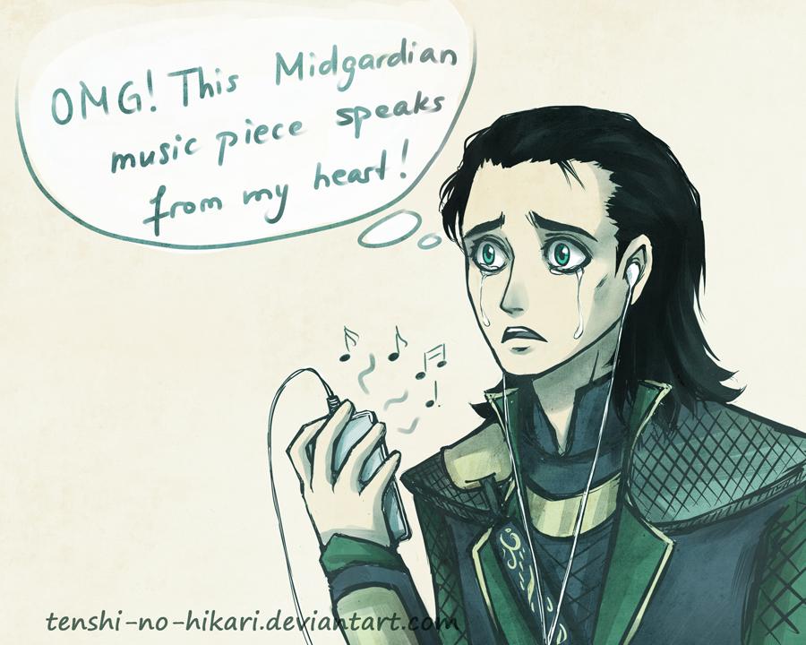 Loki found iPod by Tenshi-no-Hikari