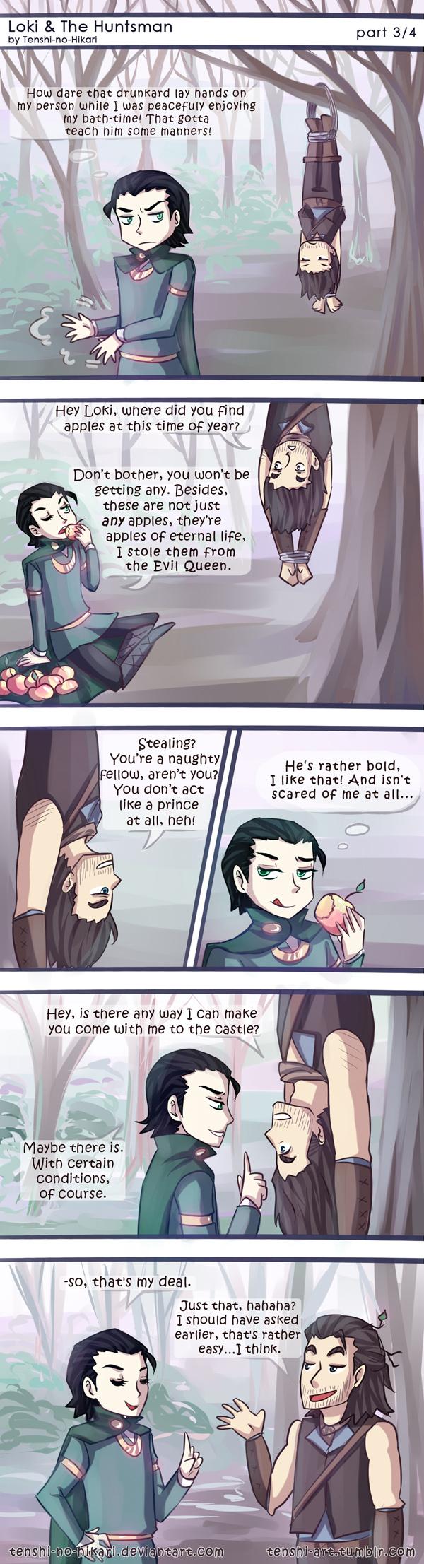 Loki and The Huntsman -part 03- by Tenshi-no-Hikari