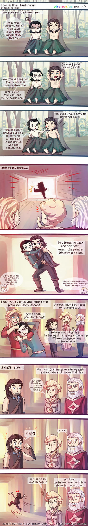 Loki and The Huntsman -alternative part 04- by Tenshi-no-Hikari