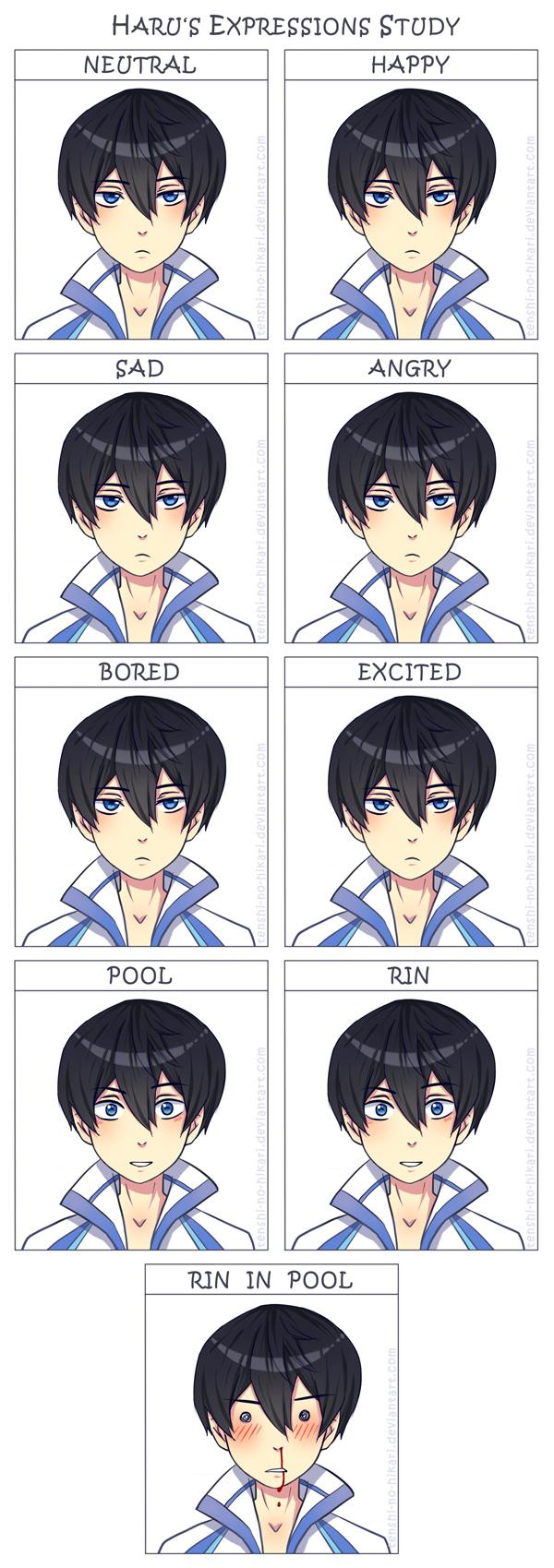 Free - Haru's expressions study by Tenshi-no-Hikari