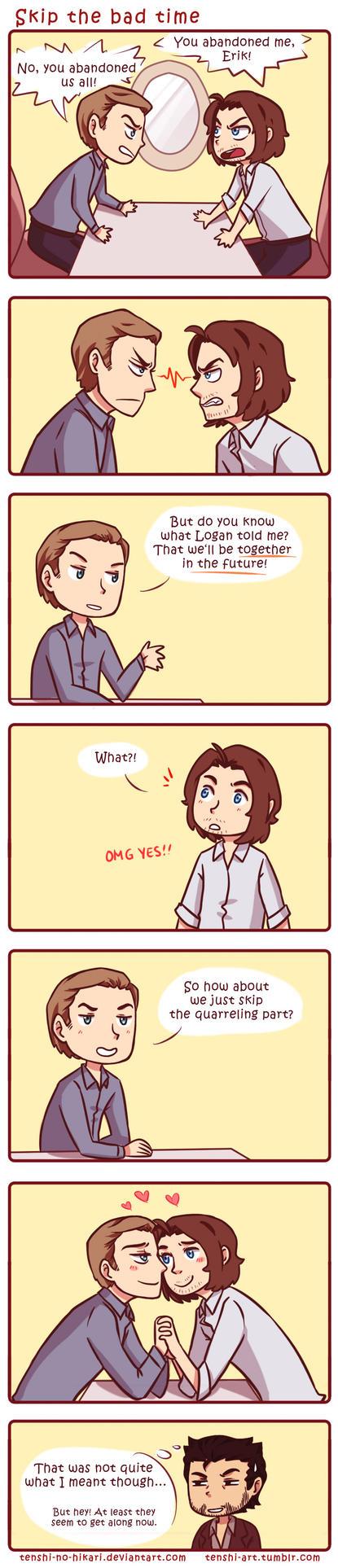 X-Men: Skip the bad time by Tenshi-no-Hikari