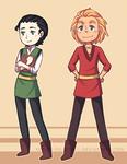 Young Thor and Loki