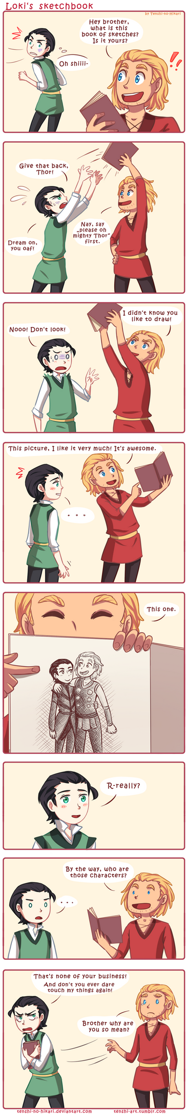 Loki's sketchbook by Tenshi-no-Hikari