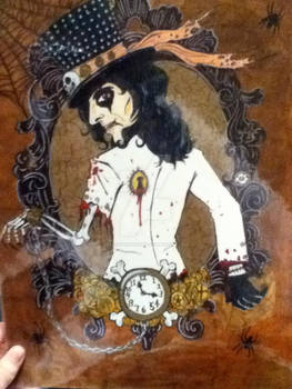 Alice Cooper steampunk drawing
