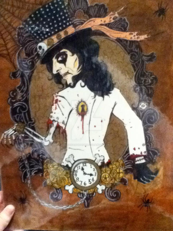 Alice Cooper steampunk drawing by AlicesArtMaiden