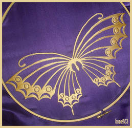 Yuuko, butterfly embroidery