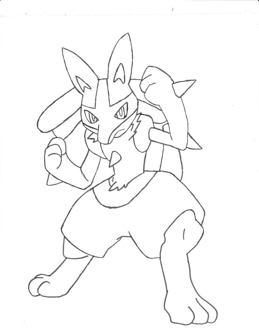 coloring pages of lucario | Lucario Lineart by kibacrazy11 on DeviantArt
