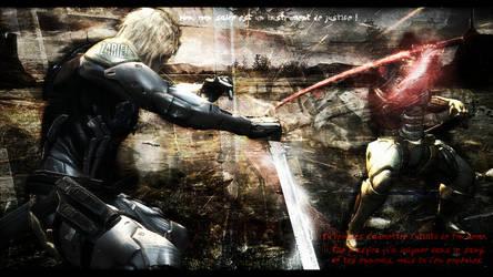Metal Gear Rising - Raiden vs Sam by Z4RIEL