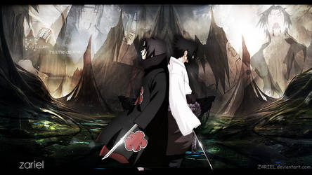 Itachi and Sasuke by Z4RIEL