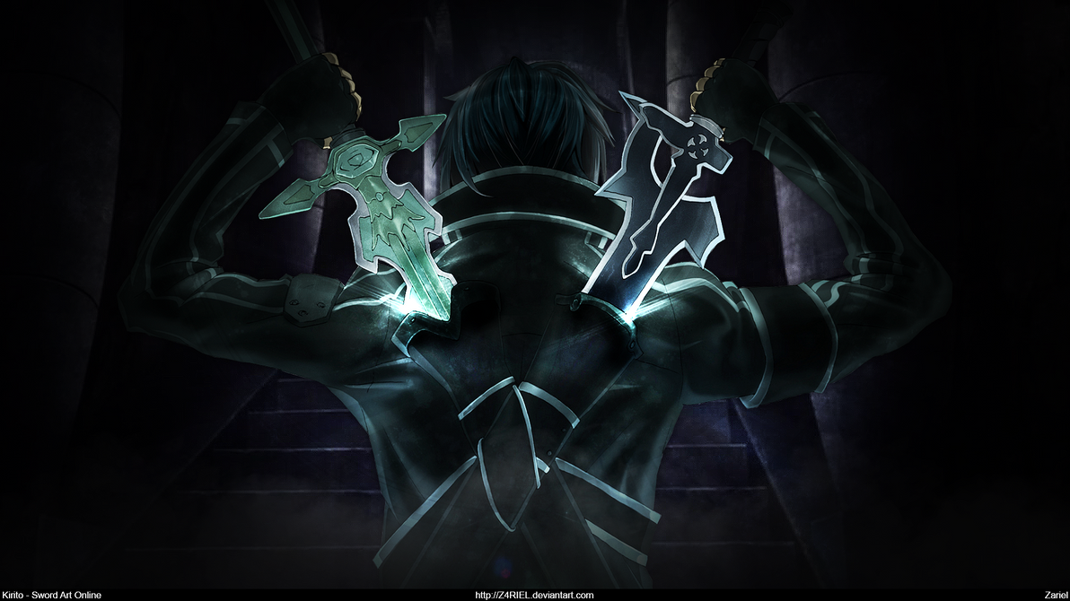 Sword Art Online - Kirito Dual Blades [Wallpaper] by ...