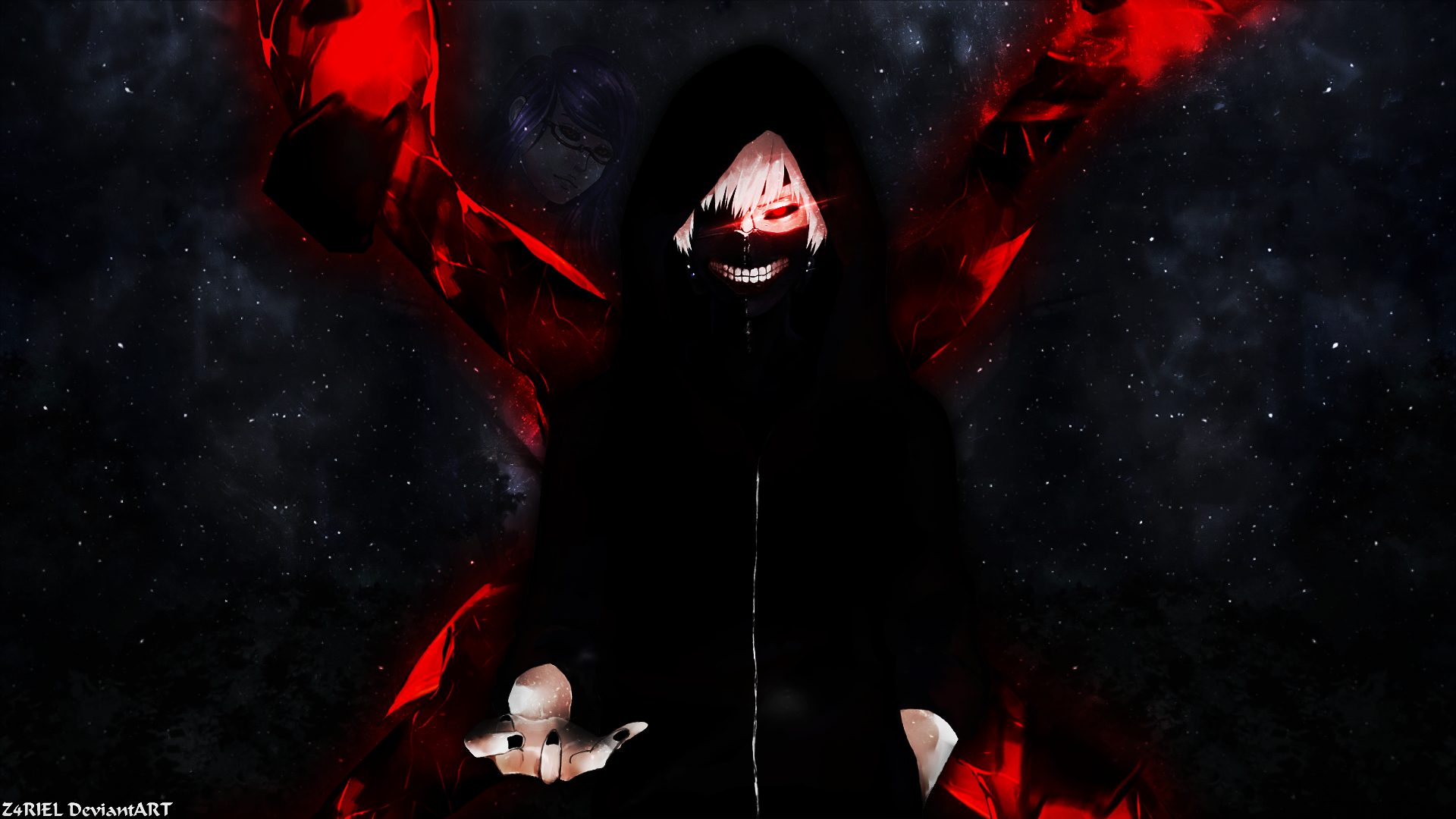 Wallpaper kaneki ken tokyo ghoul by z4riel on deviantart for Deviantart wallpaper
