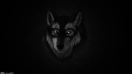 Wallpaper - Wolf by Z4RIEL