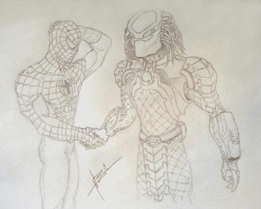 Predator vs spiderman by GENTTT on deviantART
