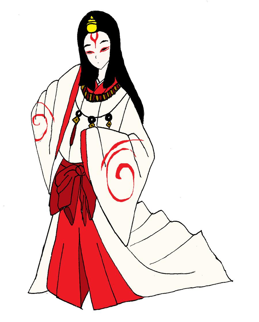 The Goddess Amaterasu Aka Okami Ami S Human Form By