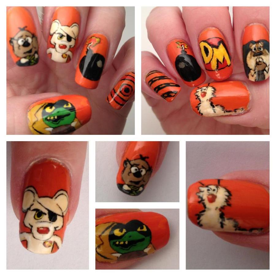 Danger Mouse nail art by MistyPixelFan