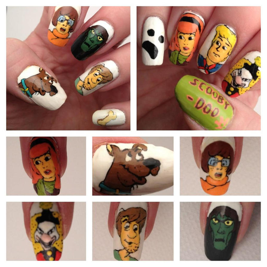 Scooby doo nail art by mistypixelfan on deviantart scooby doo nail art by mistypixelfan prinsesfo Image collections