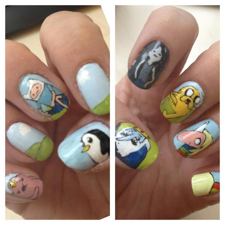 Adventure Time Nails By Mistypixelfan On Deviantart