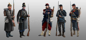 Infantry from the Franco-Prussian War (1870-1871)