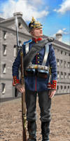 Prussian infantryman - 1870-1871