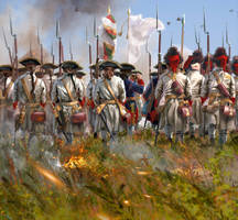 Regiment Limousin at Villinghausen 1761 by ManuLaCanette