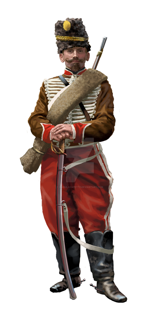 Private of the 2e Hussard in 1870 campaign outfit by ManuLaCanette