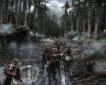 Baden infantry ambushed