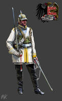 Prussian Cuirassier (1870-1871) by ManuLaCanette