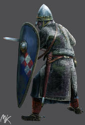 Crusader Knight (1st Crusade) by ManuLaCanette