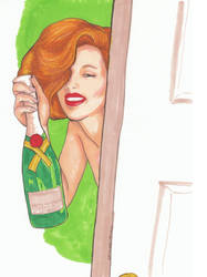 Champagne Girl-50 by KathleenHowell