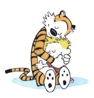 Hobbes and Calvin by scarfaze