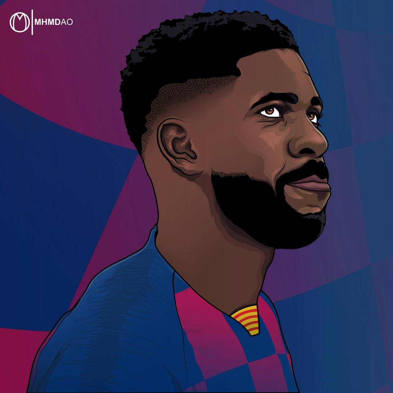 Samuel Umtiti - Drawing by MhmdAo on DeviantArt