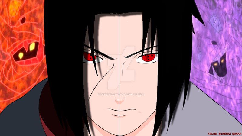 Itachi vs Sasuke by Carolinevehacia on DeviantArt