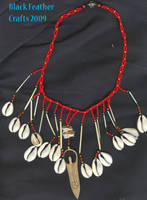 Cowrie Goddess Necklace by Black-Feather
