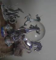 My Altar Photos:  crystal ball by Black-Feather